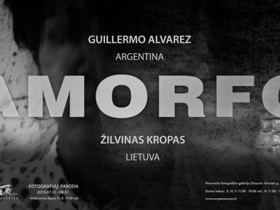 Fotografijos parodos AMORFO plakatas